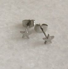 316L Surgical Stainless Steel Small Star Ear Studs Earrings 5mm