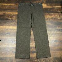 DOSA Cashmere Linen Silk Brown Tweed Wide Leg size 2 Career Women's Dress Pants