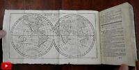 World gazetteer 1783 Vaugondy 15 folding maps pocket atlas Buffier rare book