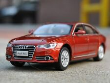AUDI A6L Red Diecast Model Car Scale in 1/32 Toys Collections Sound Ligt Gifts