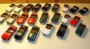 Job Lot Cararama 1:43 MGB Cabriolet Convertible Diecast Models - Imperfect