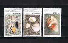Zypern(Turkisch) 1994 Satz 387/89 Meeresmuscheln/Schnecken/Shells Postfrisch