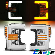 2017-2019 Ford F250/F350/F450 Chrome LED Sequential Signal Projector Headlights