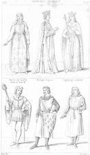 BLANCHE DE CASTILLE. Philippe Auguste; Ingelburge; Robert Clermont; Croise 1875
