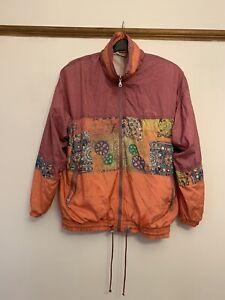 MAGIC VENTURE 90s Vintage Unisex Nylon Track Top Jacket Windbreaker Large