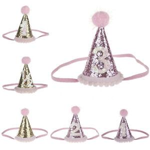 Baby Girl Boy Birthday Hat Children Headband Headwear Party Supplies Photo Props