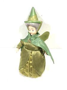"Disney Store Sleeping Beauty Green Fairy FAUNA 6"" Vinyl and Plush Classic Doll"