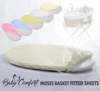 MOSES BASKET FITTED SHEET / BABY TERRY / TOWELLING OVAL SHAPE SHEETS