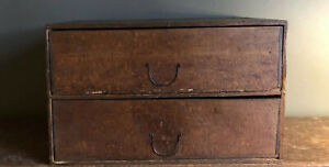 Gorgeous Circa 19th Century Primitive Tabletop Drawers