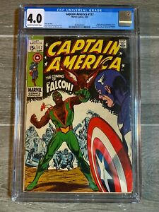 Captain America 117 CGC 4.0 First appearance of The Falcon! 1969