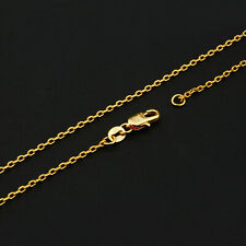 Wholesale 10P 16-30inch Wholesale Jewelry 18K GOLD FILL Singapore Chain Necklace