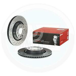 FOR AUDI RS3 8P REAR DRILLED BREMBO XTRA PERFORMANCE BRAKE DISCS PAIR 310mm