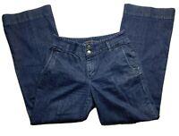 Lauren Jean Co Ralph Lauren Women's Dark Wash Denim Jeans Size 6 (31X30.5)