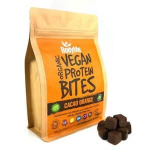 BodyMe Organic Vegan Protein Bites   Raw Cacao Orange   500g   100 Bites