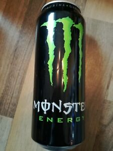 1 Volle Energy drink Dose Monster Original Frankreich Green Can Coca Cola FULL