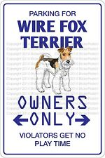 Metal Sign Parking For Wire Fox Terrier 8� x 12� Aluminum Ns 477