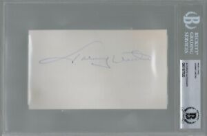 Johnny Unitas Baltimore Colts Signed Autograph 6 x 3.5 Index Card BAS Beckett