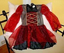 Hexenkostüm Hexe Kleid Kostüm Faschingskostüm Mädchen Gr. 116 Halloween