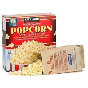 Kirkland Signature Microwave Popcorn Movie Theater Butter Natural 1 - 44 Bags