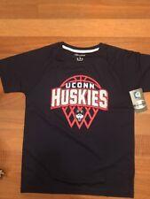 NCAA Connecticut Huskies Boys Short Sleeve Crew Neck Raglan Synthetic T-Shirt, L
