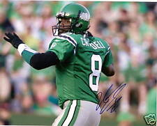 Marcus Crandell CFL QB SIGNED 8 by 10 Saskatchewan Ride