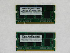 NEW 2GB 2X1GB PC2700 DDR 333mhz 200Pin Dell Latitude D400 D500 D505 D600 D800