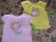 *NWT* 2 Toddler Girls Carters S/S Tops PINK YELLOW 24 m