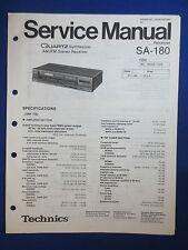 Technics SA-180 Receiver Service Manual Factory Original The Real Thing