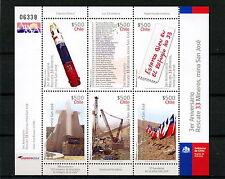 Chile 2013 Sheetlet Third Anniversary Rescue 33 Miners San José Mine + Brochure