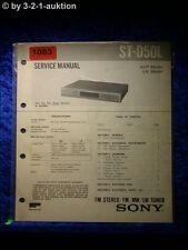 Sony Service Manual S D50L (#1083)