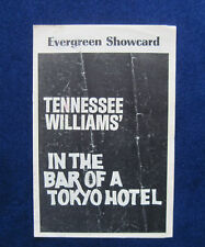 TENNESSEE WILLIAMS In the Bar of a Tokyo Hotel PLAYBILL