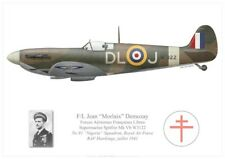 Print Spitfire Mk Vb, Jean Demozay, No 91 Sqdn, Royal Air Force (par G. Marie)