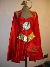 FLASH  corset costume fancy dress  custom made to measure including cape