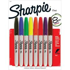 STANFORD Sharpie Fine Point Permanent 8 colors Marker (MADE IN USA)