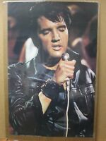 Vintage Poster ELVIS 1970's king of rock n roll Inv#G2021