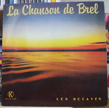 LES OCTAVES LA CHANSON DE BREL DOUBLE FRENCH LP KUKLOS CORP  RECORDS 1982