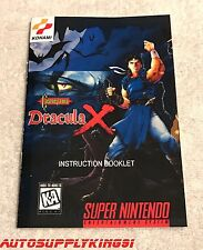 CASTLEVANIA DRACULA X Custom Art Instruction Manual Only For Super SNES