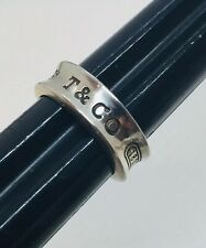 Tiffany & Co. Authentic 925 Sterling Silver 1837 Ring Size 7.5