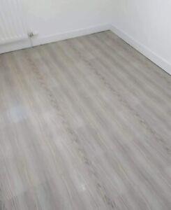 GREY WOOD EFECT  BATHROOM / KITCHEN / HALLWAY SELF-ADHESIVE VINYL FLOOR TILES