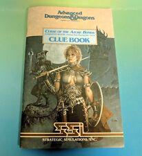 Advanced Dungeons & Dragons Curse of the Azure Bonds Clue Book Rare