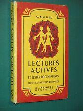 Lectures actives Certificat d'études G; & M. DURU
