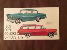 1959 Buick Opel Color & Upholstery Brochure