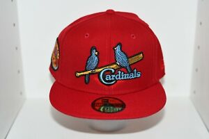 ST. LOUIS CARDINALS 1934 WORLD SERIES PATCH NEW ERA FITTED HAT - Sz 7 5/8