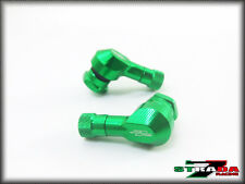 Strada 7 83 Degree 11.3mm CNC Motorcycle Valve Stems Suzuki GSX250 GSX650 Green