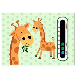 Baby Safe Ideas Giraffe Twins Nursery Room Thermometer - Easy Read