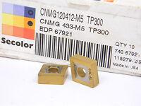 NEW 10PCS. SECO CNMG 433-M5 GRADE: TP300 CARBIDE INSERTS