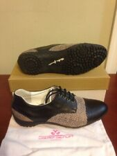 Nib Walter Genuin Astra Women's Black Bronze Size 9.5 40.5 New Golf Shoes $299