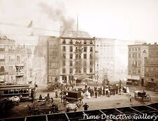 Fighting a Fire at Coney Island, New York - Early 1900s - Historic Photo Print
