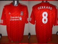 Liverpool BNWT GERRARD  2010 Football Soccer Jersey Shirt Adidas NEW XXL & XXXL