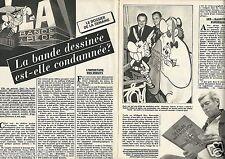 Coupure de presse Clipping 1984 La bande dessinée est elle condamnée ? (4 pages)